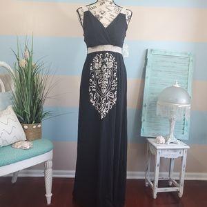 NWT Currants Black Maxi Dress